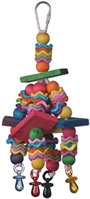 Super Bird Creations Wiggles and Wafers Toy for Birds by Super Bird Creations