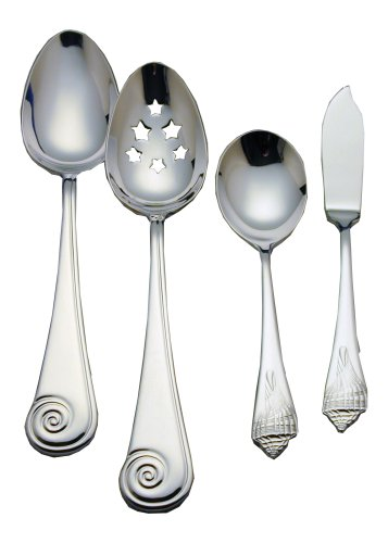(Reed & Barton Sea Shells 18/10 Stainless Steel 4-Piece Flatware Hostess Set)