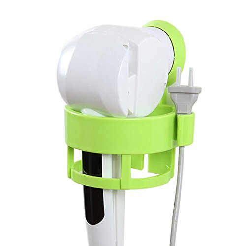 Price comparison product image SEXYP Bathroom Blow Hair Dryer Stand Flat Holder Wall Mounted Holder Rack Sucker (Green)