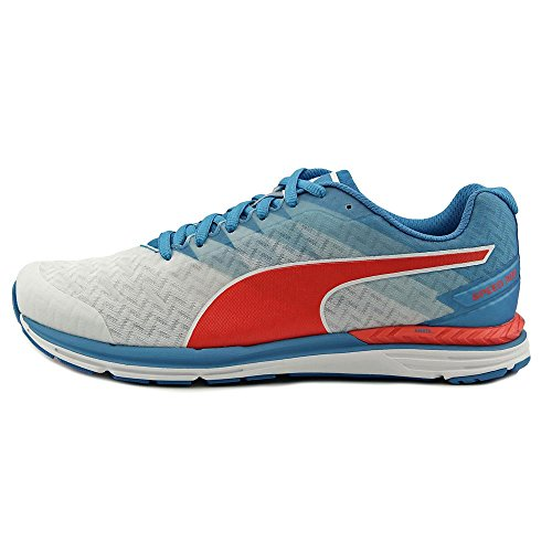 Puma Speed 300 Ignite Heren Ronde Neus Synthetische Multi Kleuren Sneakers Wit / Atomic Blue / Red Blast