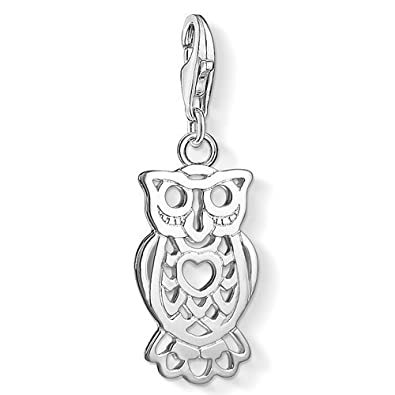 fdafb066384 Thomas Sabo Women-Charm Pendant Owl Charm Club 925 Sterling silver  1393-001-12  Amazon.co.uk  Jewellery