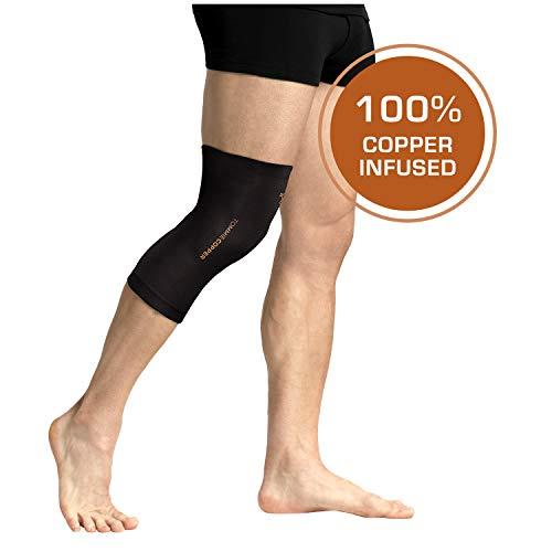 Tommie Copper - Unisex Compression Knee Sleeve - Black - Medium