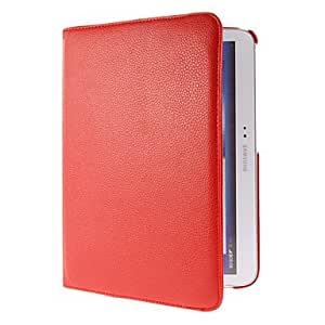 "360 Degree Rotating PU Leather Pouches with Stand for Samsung Galaxy Tab3 10.1"" P5200 , Red"