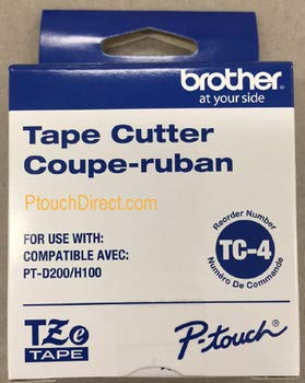 Brother Mobile TC4 Brother Mobile, Cutter Blade for 12Mm Tze Tape Labeling Systems, Compatible with Pt-E100 and - Cutter Blade Brother