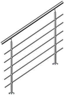 SAILUN 150cm pasamanos barandillas acero inoxidable con 5 postes parapeto,para escaleras,barandilla,balcón: Amazon.es: Bricolaje y herramientas