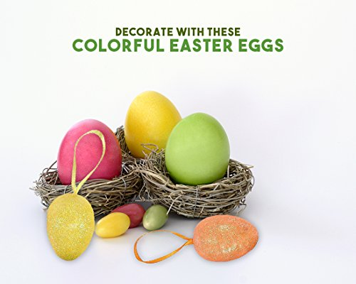 Colorful Easter Theme Party Favor Valery Madelyn 24ct 3.15 inch Jumbo Easter Eggs Hunt Plastic Easter Decorations Fillable Easter Eggs Joyful Kids Toy Easter Basket Stuffers