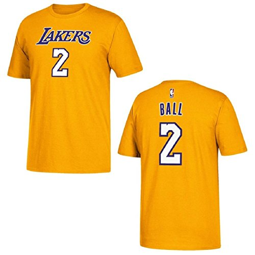 Adidas Youth Ball Lakers Name/# S/S Tshirt GOLD YXL