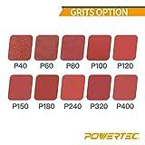 POWERTEC 110430 3 x 21 Inch Sanding Belts | 80 Grit