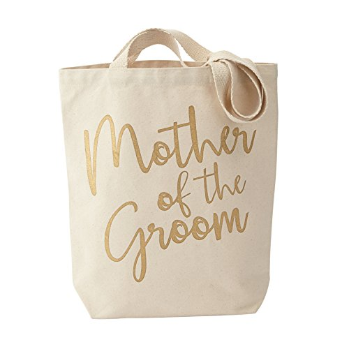 Mud Pie 4485019G Canvas Mother of The Groom Tote Bag, His ()