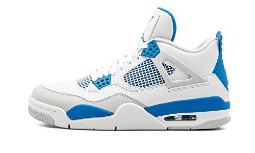 Nike Air Jordan 4 IV Retro Military Blue White Neutral Grey AJ4 2012 308497-105 [US Size 8.5]