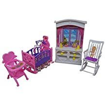 Barbie Size Dollhouse Furniture- New Baby Room Play Set