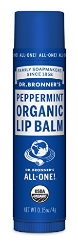 Dr. Bronner's & Sun Dog's Magic Organic Lip Balm, Peppermint, 0.15-Ounce Sticks (Pack of 6)