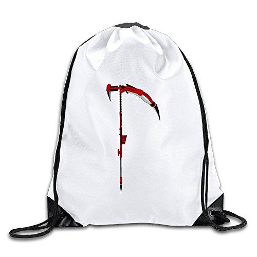 - Logon 8 High Velocity Sniper Scythe Cinch Sack Custom Drawstring Tote Bags Pack Pockets White