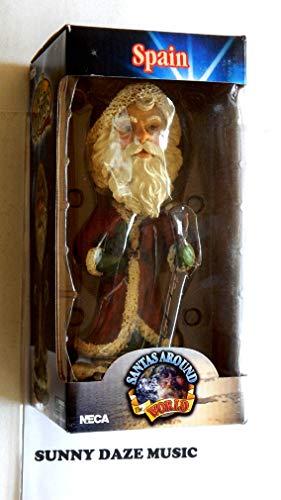 Santa Claus Decorative Hand Painted Heavy Porcelain Head Knocker Bobble - Spain Papa Noel - Santas Around The World - Weighs 2 Pounds