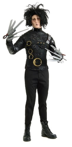 [Edward Scissorhands Deluxe Costume, Black, One Size] (Scary Costumes)