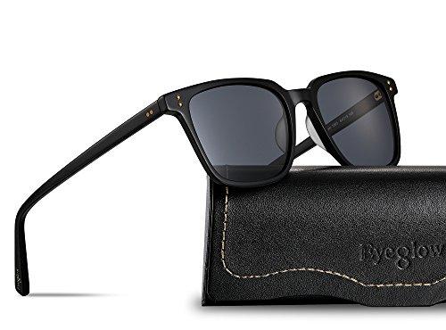 EyeGlow Vintage Square Designer Sunglasses Men and Women Polarized Lens - Clear Sunglasses Men Frame