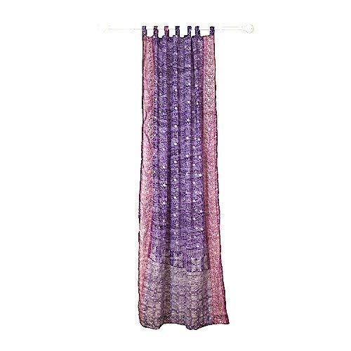 PURPLE CURTAIN Window Treatment Draperies Boho Curtains over 20 colors Sari panel 108 96 84 inch for bedroom living room dining room kids yoga studio canopy tent W GIFT bag Violet raspberry PINK