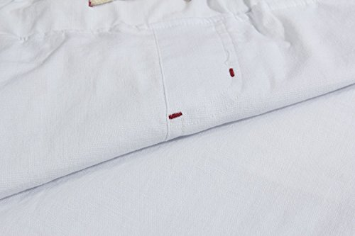 Janmid Men's Linen Casual Classic Fit Short White M by Janmid (Image #4)