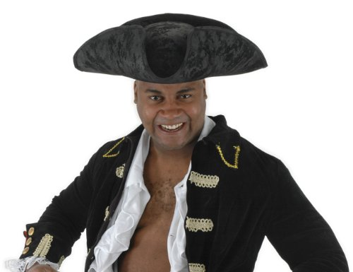 Black Scallywag Pirate Hat Adult for Women and Men by elope ()