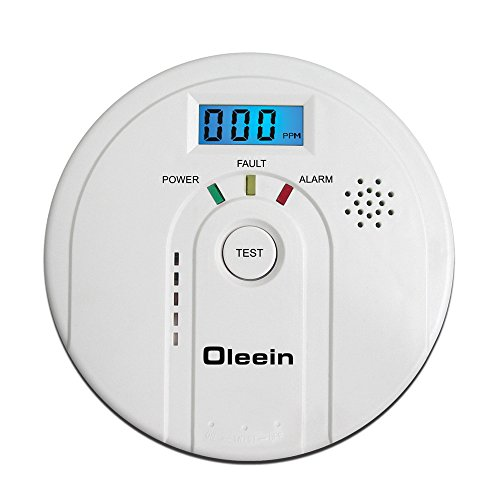 Oleein Carbon Monoxide Detector CO Alarm and Alarm with Digital Display Electrochemical CO Sensor,Digital Display,Voice Warning and Battery Backup (CO...