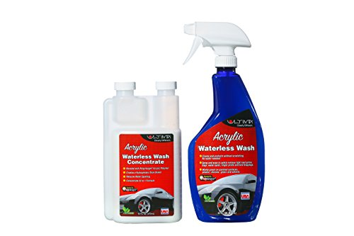 Ultima Acrylic Waterless Wash—a shine so bright, you'll think it's a new coat of paint| 16 oz. with empty 22 oz Spray - Car Can Scratches Out On You Buff