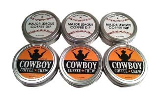 split-6-pack-cowboy-coffee-chew-major-league-coffee-dip-quit-chewing-tin-can-non-tobacco-nicotine-fr