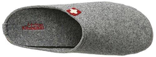 Chaussons Grau Homme Gris Schweizer Mit Fußbett 610 Pantoffel Kitzbühel Kreuz Living K6Ywq4aFZ