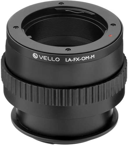 Vello Lens Adapter with Macro Compatible with Olympus OM Lens to Fujifilm X-Mount Camera