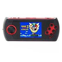 Handheld Gaming Console with 1000 Genesis Mega Drive Sega Genesis Megadrive Games Red