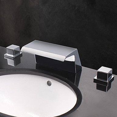 SEBAS HOME Basin Tap Designer Wide Spout Waterfall Bathroom Sink Faucet Bathroom Faucet Basin Mixer Tap