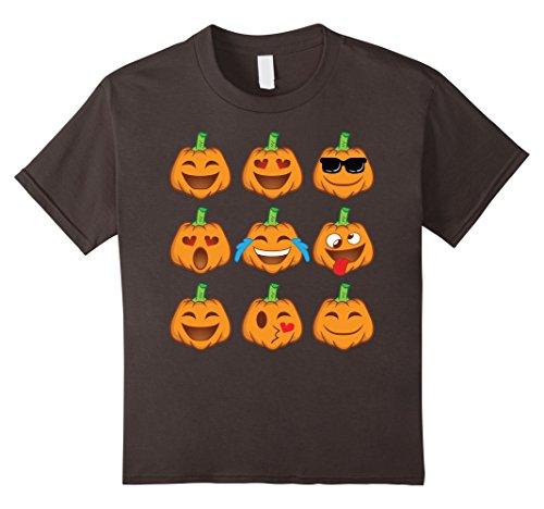 [Kids Pumpkin Face Shirt - Smiley Pumpkin Shirt Halloween Costume 4 Asphalt] (4 Person Halloween Costumes Ideas)