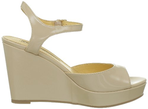 Buffalo London 312-4468 PATENT PU 143038 - Zapatos de pulsera para mujer Beige (Beige (NUDE 01))