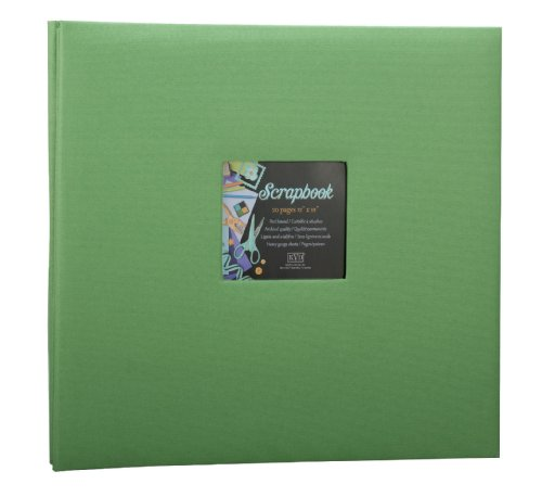 Postbound Scrapbook 12x12 (Scrapbook 12x12 Album decorative Fabric DIY, Holds 20 Pages, Window Frame cover Postbound)