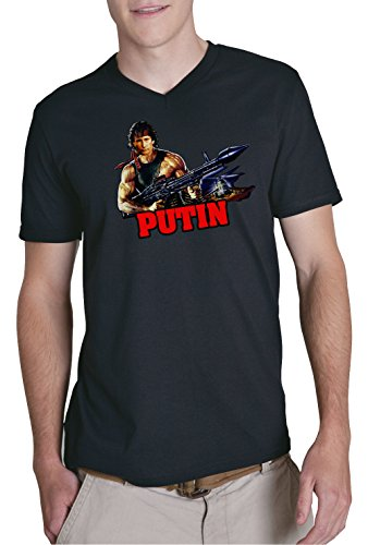 Rambo Putin V-Neck Black Certified Freak