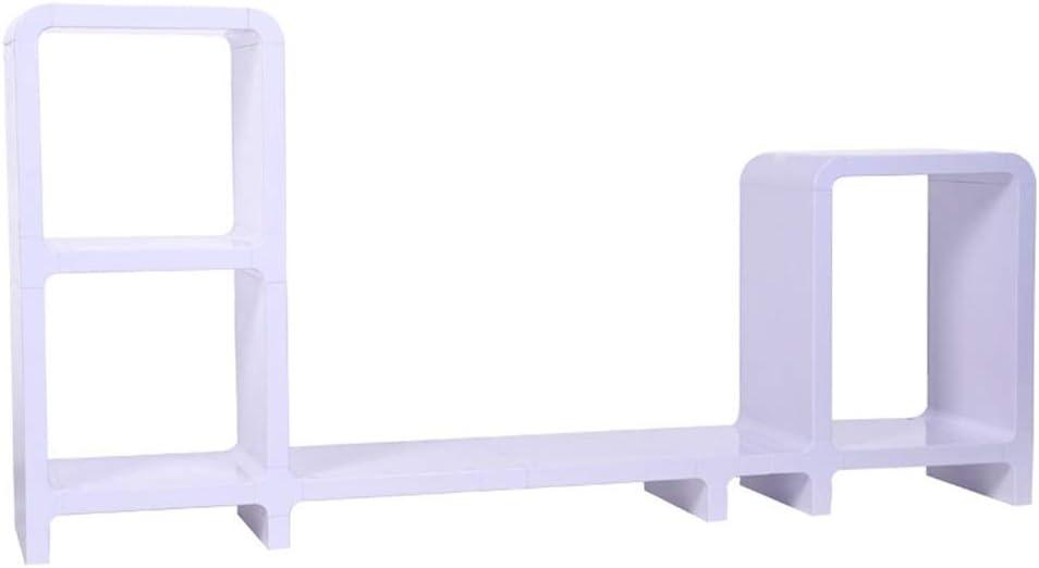 モニタースタンド DIY本棚収納コンビネーションは、デスクトップディスプレイスタンド増加シェルフをスタンドディスプレイ モニタアーム&スタンド (色 : Picture Color, サイズ : 122x58.5x24cm)