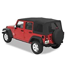 Pavement Ends by Bestop 51201-35 Black Diamond Replay Replacement Soft Top Tinted Windows-No door skins included-No frame hardware included- 2007-2009 Jeep Wrangler Unlimited