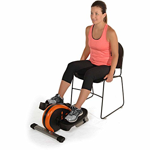 Orange Indoor Elliptical Trainer Machine Sport Fitness Exercise Cardio Workout Training Home Gym Stepper Machine Aerobic Climber Adjustable Tension Workout Intensity Electronic Fitness Monitor Display