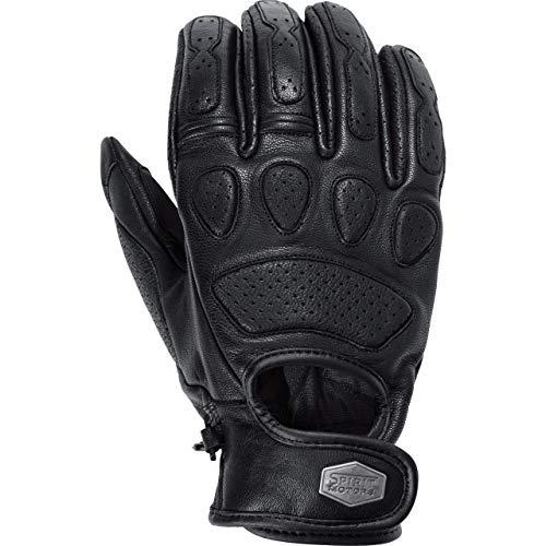 Spirit Motors Motorradhandschuhe kurz Motorrad Handschuh Retro-Style Lederhandschuh 1.0 schwarz 10, Herren, Chopper…