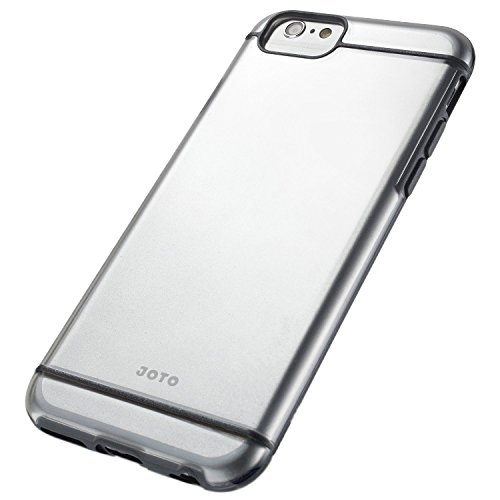 """iPhone 6S / iPhone 6 4.7 Case - JOTO Slim Fit Hybrid Clear Cover Case (Flexible TPU + Hard PC) for Apple iPhone 6S 4.7"""" / iPhone 6 4.7"""" (Black, Grey, Frosty, Clear)"""