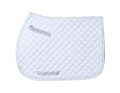 (JT International Quilted Square English Saddle Pad White)