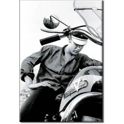 (2x3) Elvis Presley Motorcycle Harley Davidson Retro Vintage Locker Refrigerator -