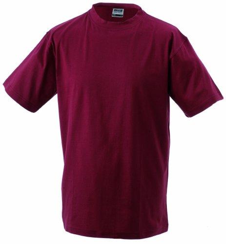 S manga redondo Camiseta Camiseta 5xl Vino Estampado de heavy t jersey Round Single corta Cuello Hombre Talla FqrwxEvq46