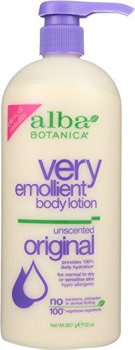 Alba Botanica Very Emollient, Unscented Body Lotion, 32 (Alba Botanica Sun Lotion)