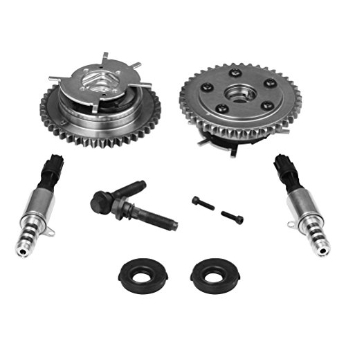 Variable Camshaft Timing Cam Phaser Kit - Replaces 3R2Z6A257DA, 917-250, 3L3Z 6279-DAP, 8L3Z-6M280-B - Fits Ford F-150, Expedition and more - Triton 5.4L, 4.6L 3V Engines - Sprockets, Bolts, Solenoids ()