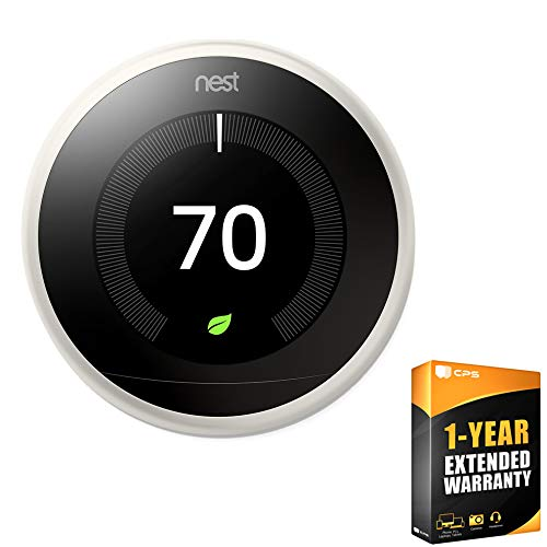 Nest (T3017US) 3rd Generation Learning Thermostat - White + 1 Year Extended Warranty