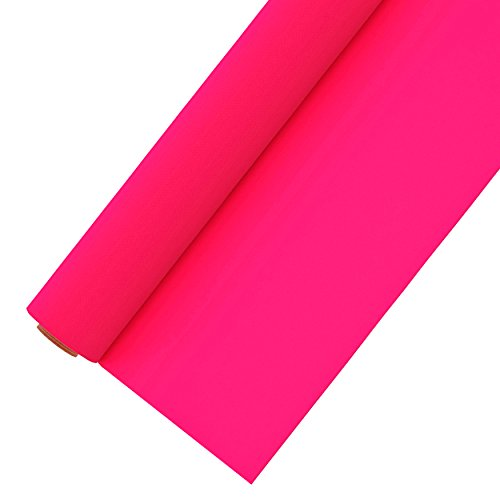 Heat Transfer Vinyl Roll 12 Inches by 5 Feet Easy to Weed Neon Colored HTV Vinyl for T-Shirts (Fluorescent Pink)