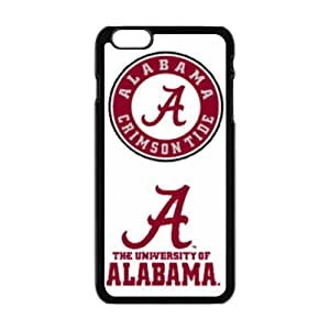 NCAA Alabama Crimson Tide Print Black Case With Hard Shell Cover for Apple iPhone 6 Plus 5.5""