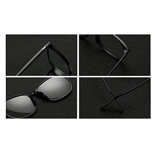 transparentes cuadradas Lentes Gafas FuyingdaGlasses retro Mujeres Hombres Moda 2 C4 para plásticas qwff60Ic