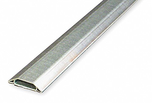 (Wiremold 1500-10 Galvanized Steel Single-Channel Overfloor Raceway Base and Cover 1-9/16 Inch x 11/32 Inch x 10 ft Pancake 1500 Series™)