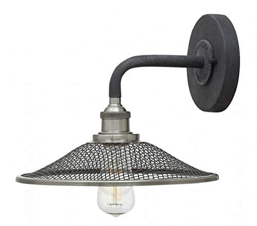 Hinkley 4360DZ One Light Wall Sconce from Rigby collection in Aged Zinc with Antique Nickel Accent
